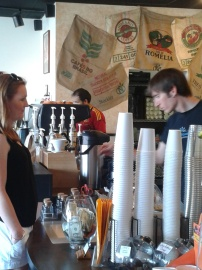 At the counter @ Terra Java