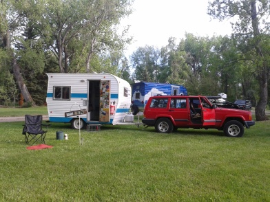 This is my trailer and my Jeep